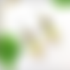 Boucles d'oreille gland, bijou chêne arbre, vert jaune, cadeau nature femme