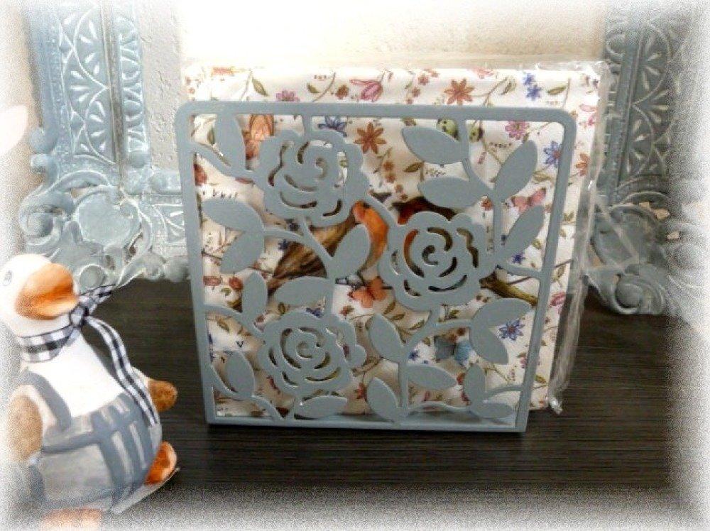 Distributeur ou support de serviettes en papier vintage en métal