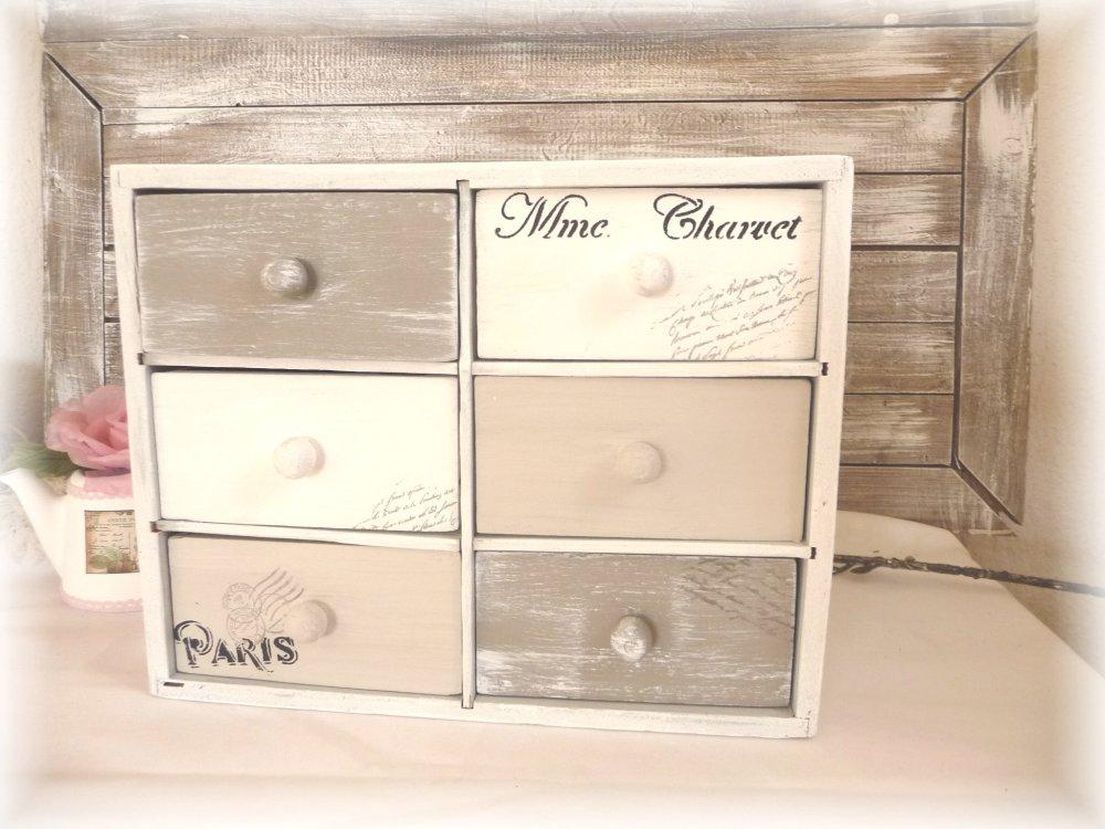 Meuble à bijoux,rangement,mercerie meuble vintage petit meuble