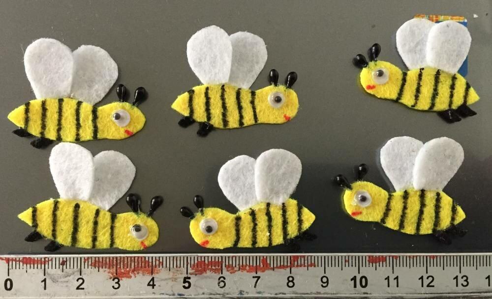 lot de 6 abeilles ,embellissement ,scrapbooking,customisation