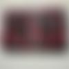 Pochette de rangement à bijoux _ rouge motif liberty baies rouges