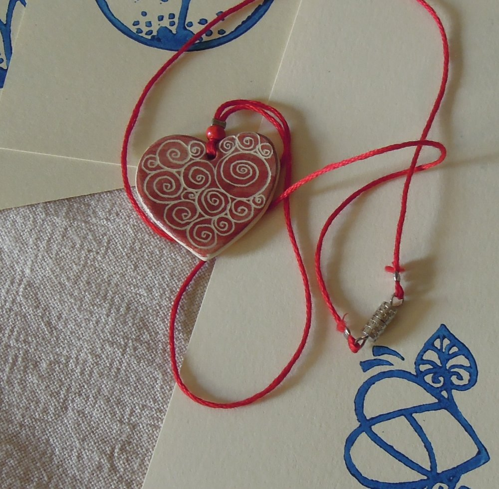 Collier rouge Coeur