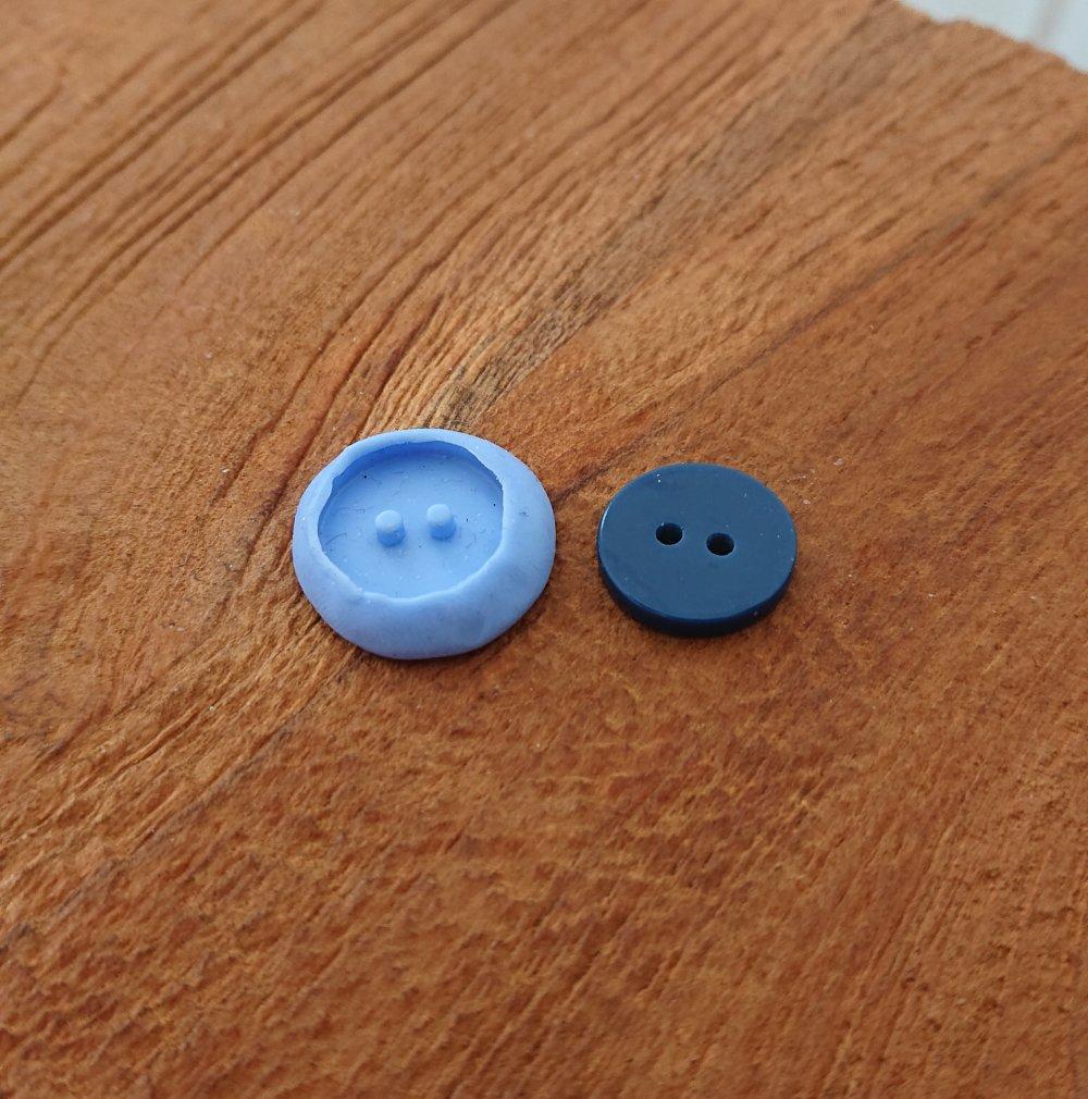 Moule bouton en silicone siligum 15 mm