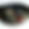 Collier ras de cou, col en tissu, dentelle et strass en cristal, couleur or rouge er noir