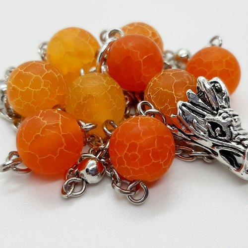 Collier dragon orange