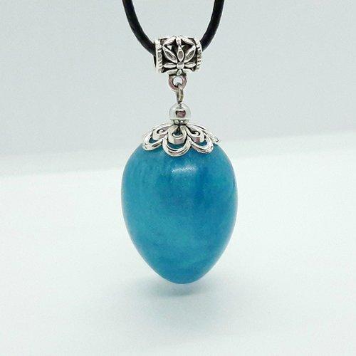 Collier magic'egg bleu modèle moyen
