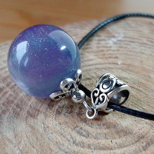 Collier magic'bubble violet/vert