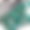 10 perles de bohême turquoise or 6 mm facettes tchèque