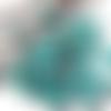 10 perles de bohême turquoise argent 6 mm facettes tchèque