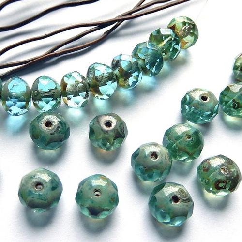 roses métal aluminium 9,5 mm 90 perles fleurs Bleu Marine