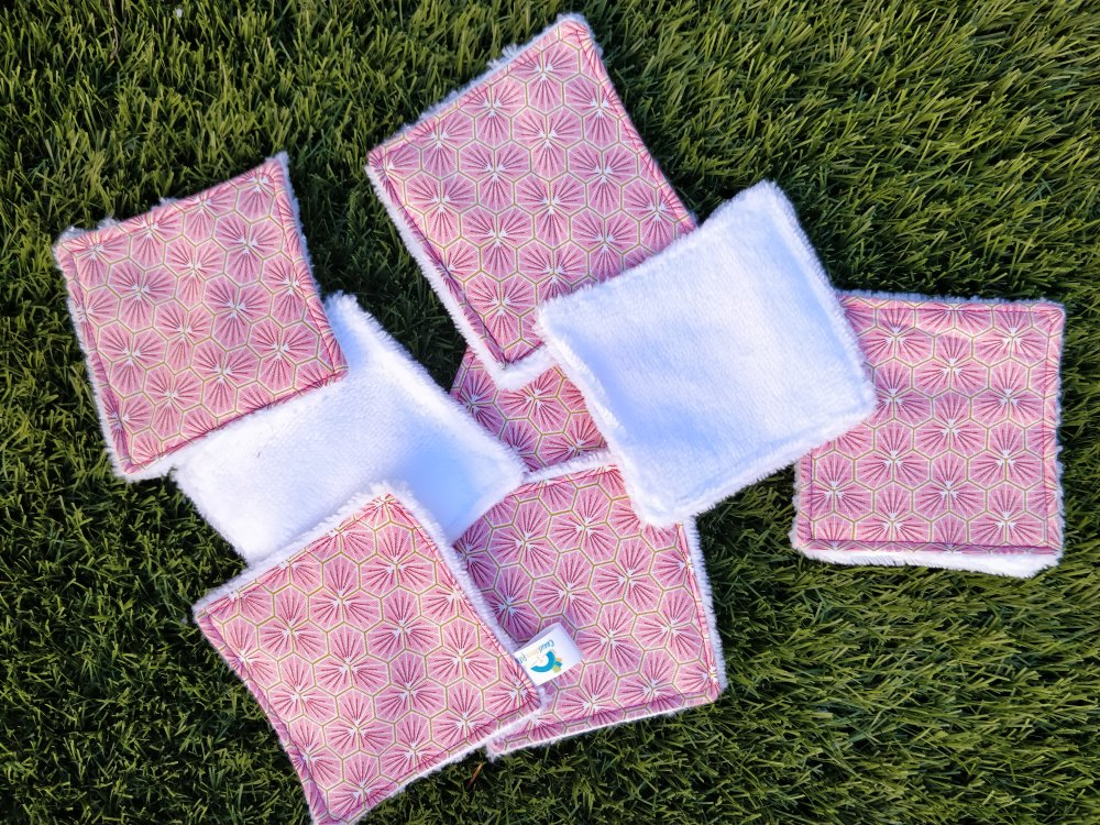 lot lingettes riad rose