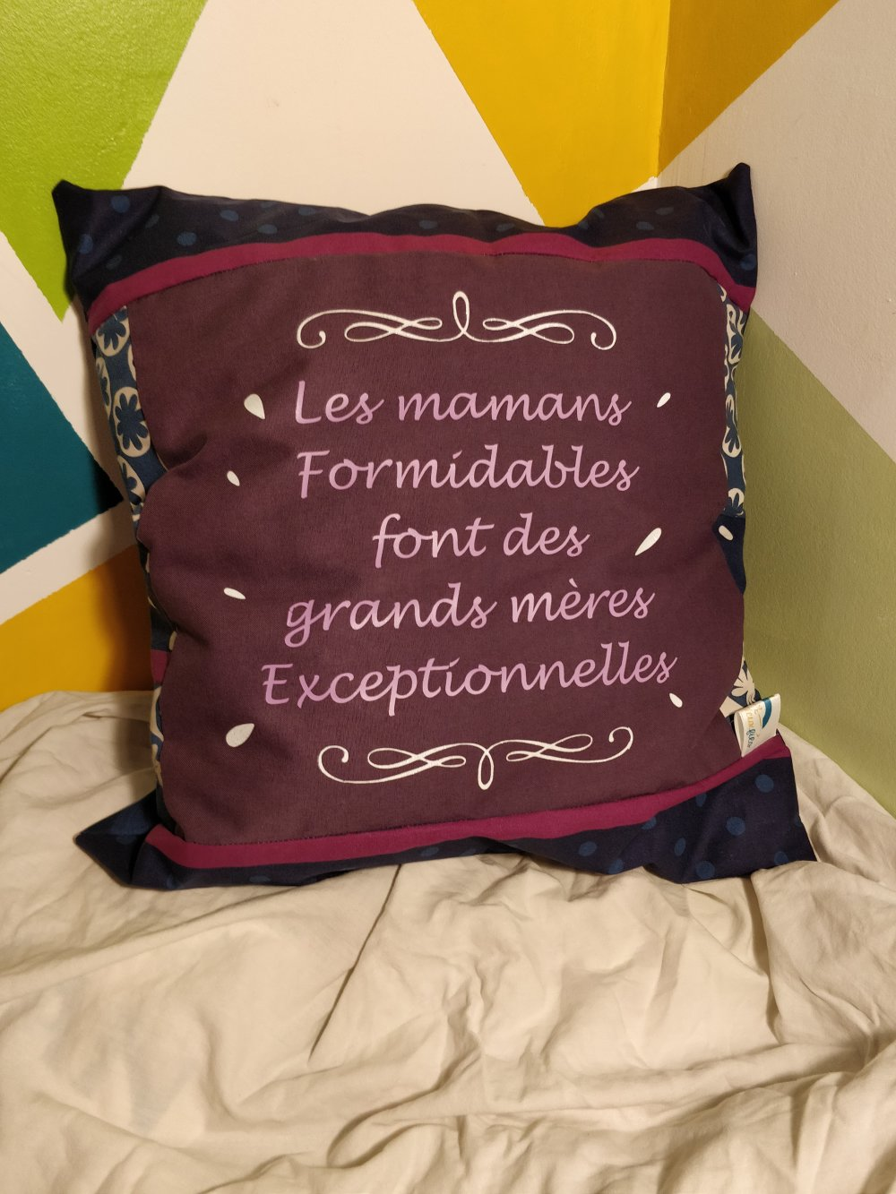 housse + coussin maman formidable