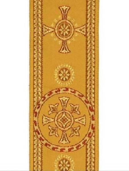Galon religieux pour ornements liturgiques Couleur Or