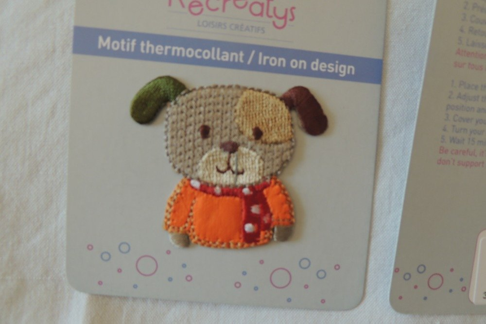 Motif thermocollant Chien ton beige Habits orange