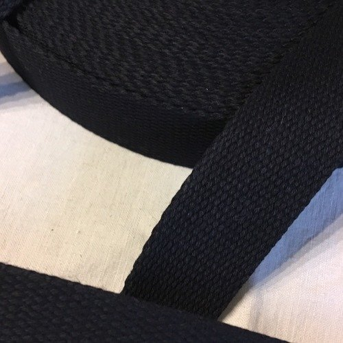 Sangle bagagère, coton, couleur noir, largeur 30 mm