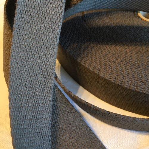 Sangle bagagère, coton, couleur gris foncé, largeur 30 mm
