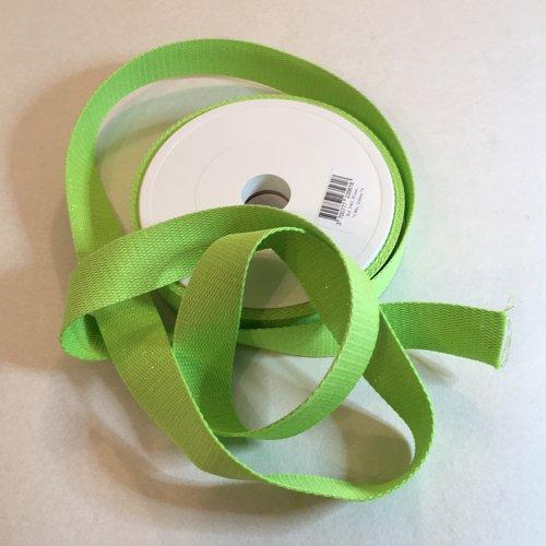 Sangle bagagère, coton, couleur vert à paillettes or, largeur 30 mm