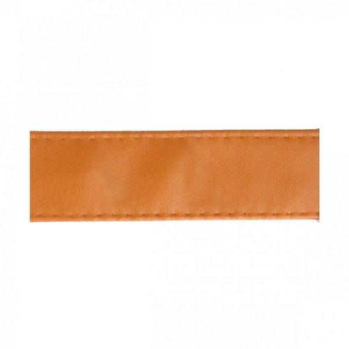 Sangle bagagère, simili cuir, couleur camel, largeur 1 cm