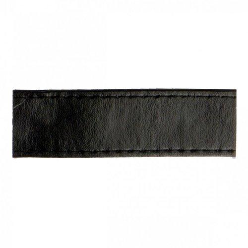 Sangle bagagère, simili cuir, couleur noir, largeur 1 cm