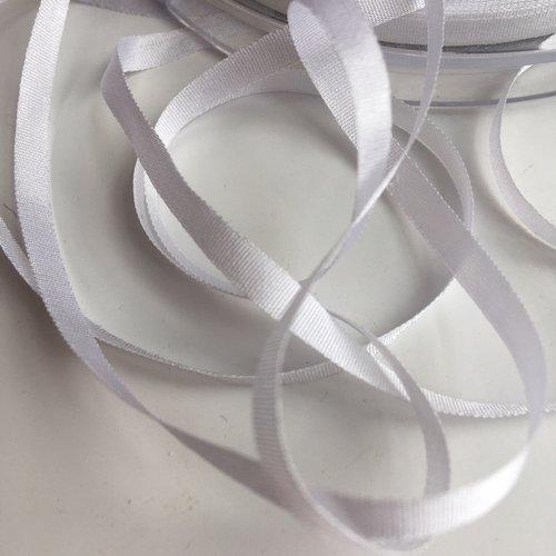Ruban de soie couleur blanc largeur 4 mm