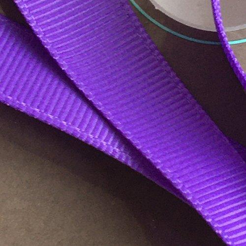 Ruban gros grain violette largeur 16 mm
