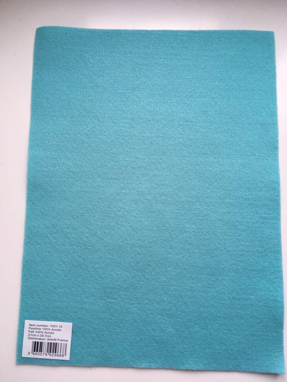 Feutrine, feuille A4, couleur Bleu ciel