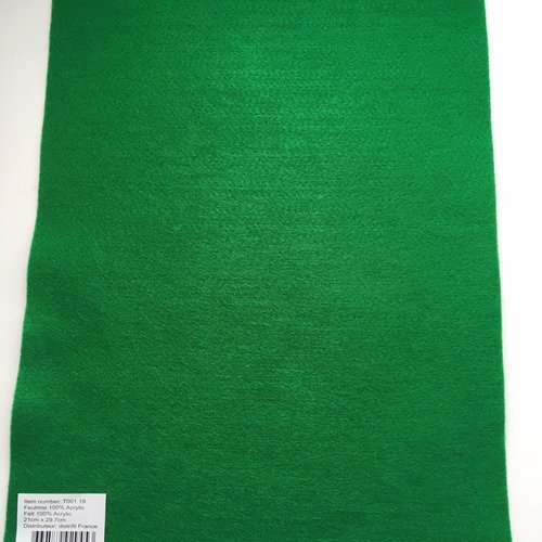 Feutrine, feuille a4, couleur vert bouteille