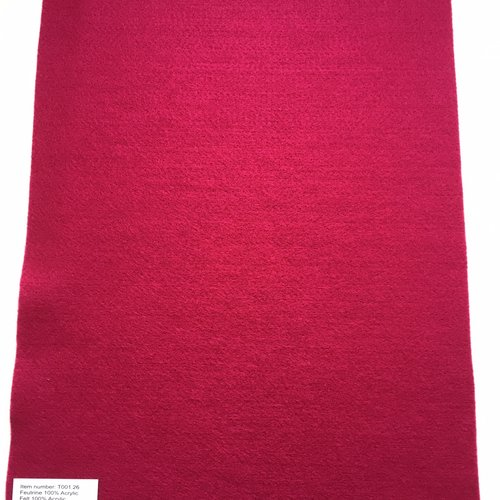 Feutrine, feuille a4, couleur pourpre