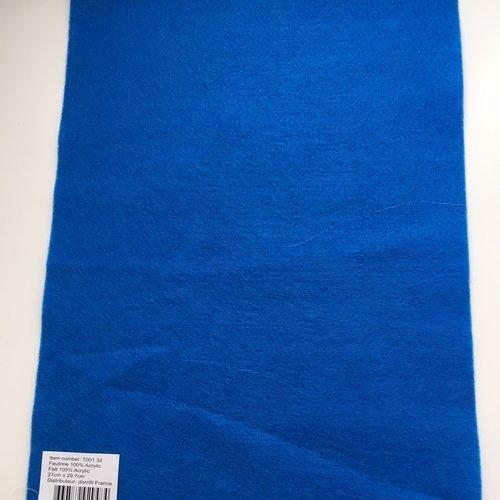 Feutrine, feuille a4, couleur bleu