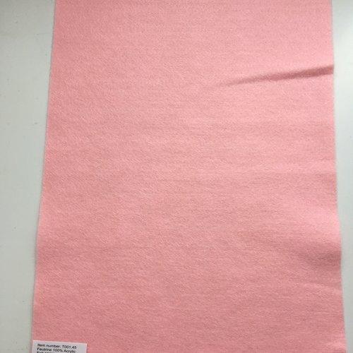 Feutrine, feuille a4, couleur rose pâle