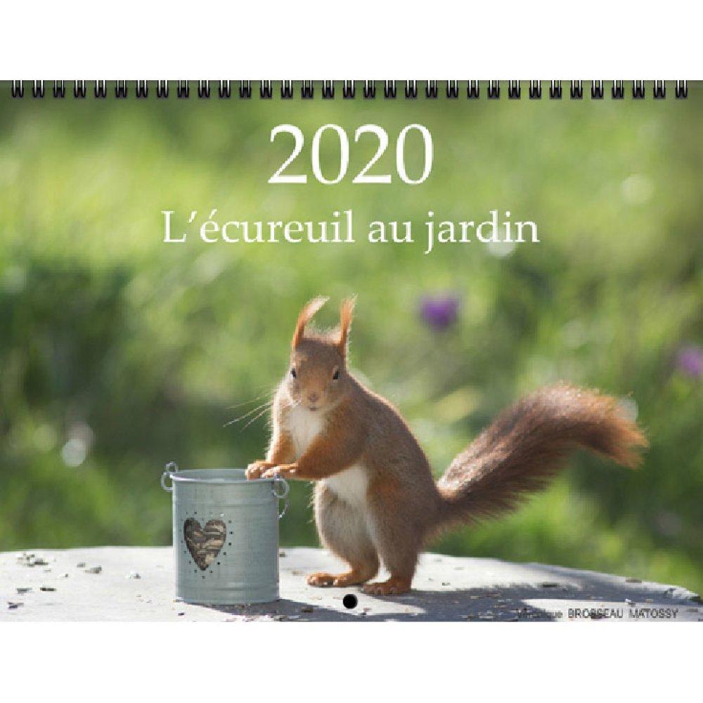 """Calendrier 2020  """"L'écureuil au jardin"""""""