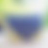 Sac besace, sac bandoulière, sac rabat en daim, suédine bleu marine et vert pommme, sac porté épaule brodé fleurs,sac bohème
