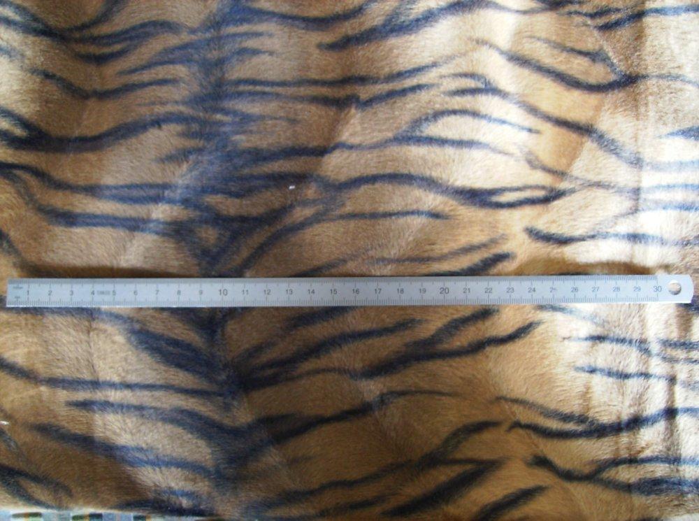 Coupon de fausse fourrure tigre
