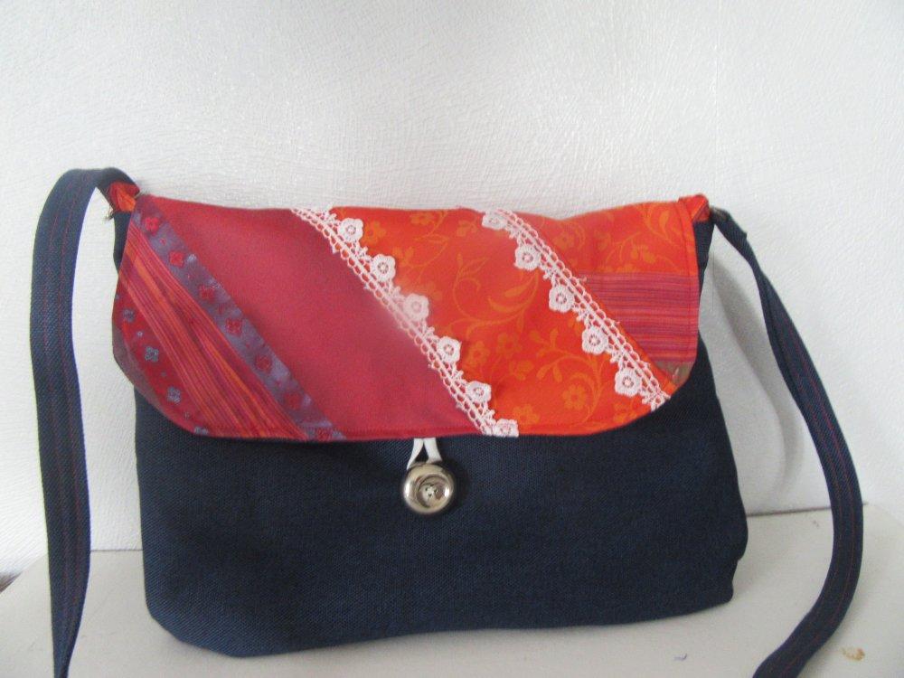 sac bleu et rouge