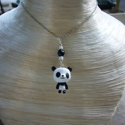 collier panda homme