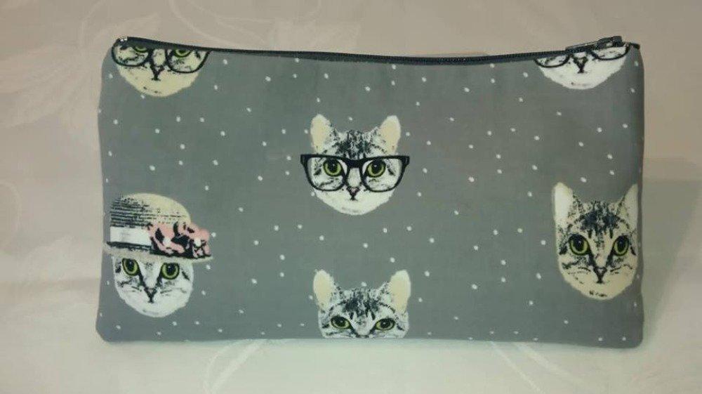 trousse-pochette zippée chatons