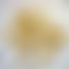 100 anneaux ouverts métal doré jaune 14 mm