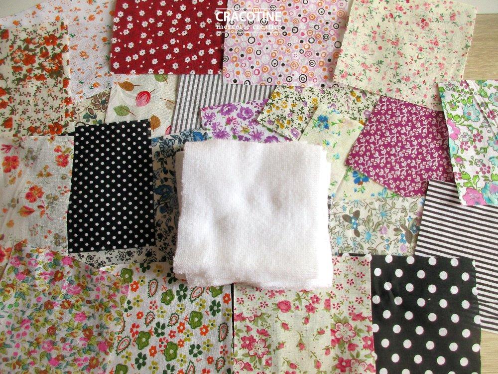 kit de montage de lingettes lavables démaquillantes