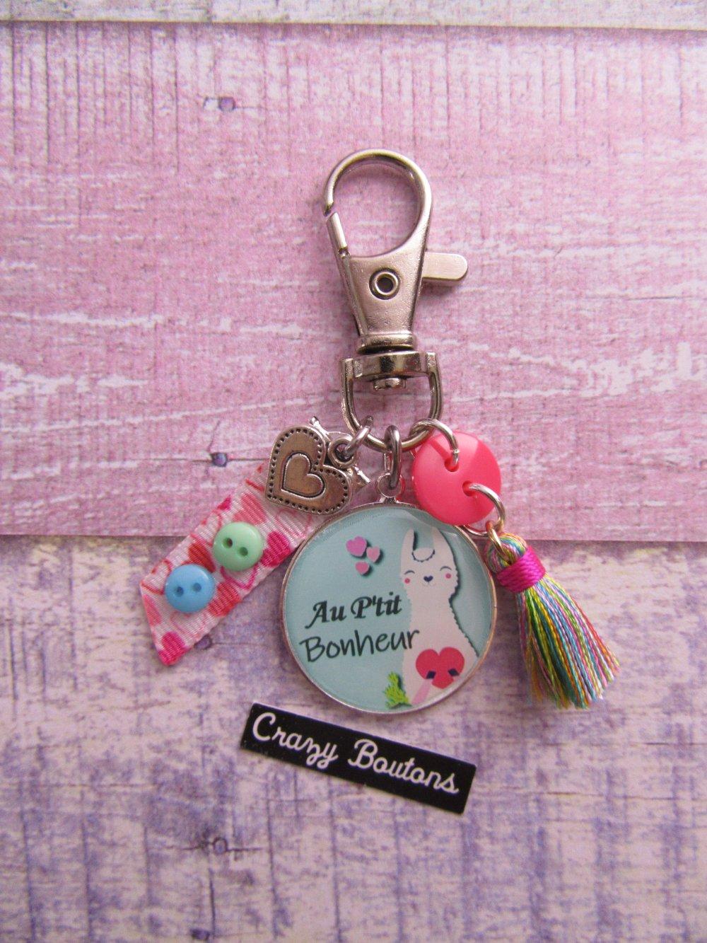 Porte-clés au p'tit bonheur