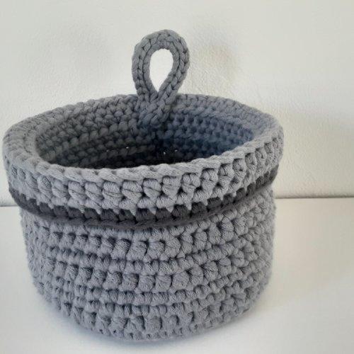 Vide poche ou corbeille  de rangement  en crochet