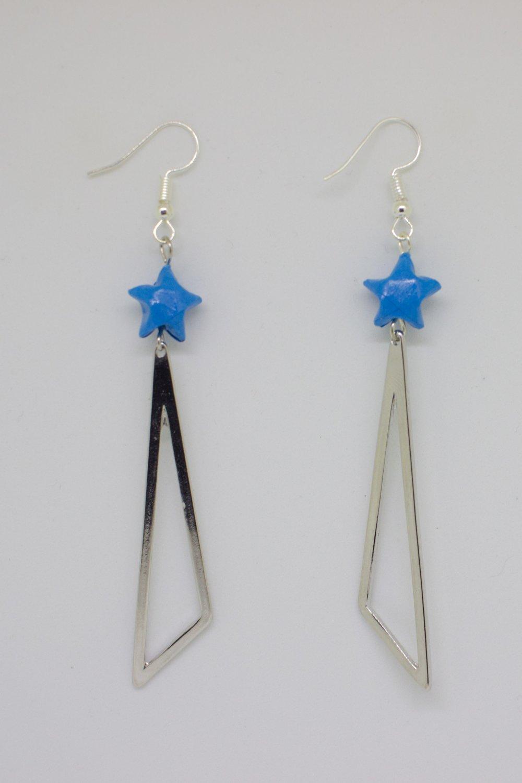 Etoiles origami bleues