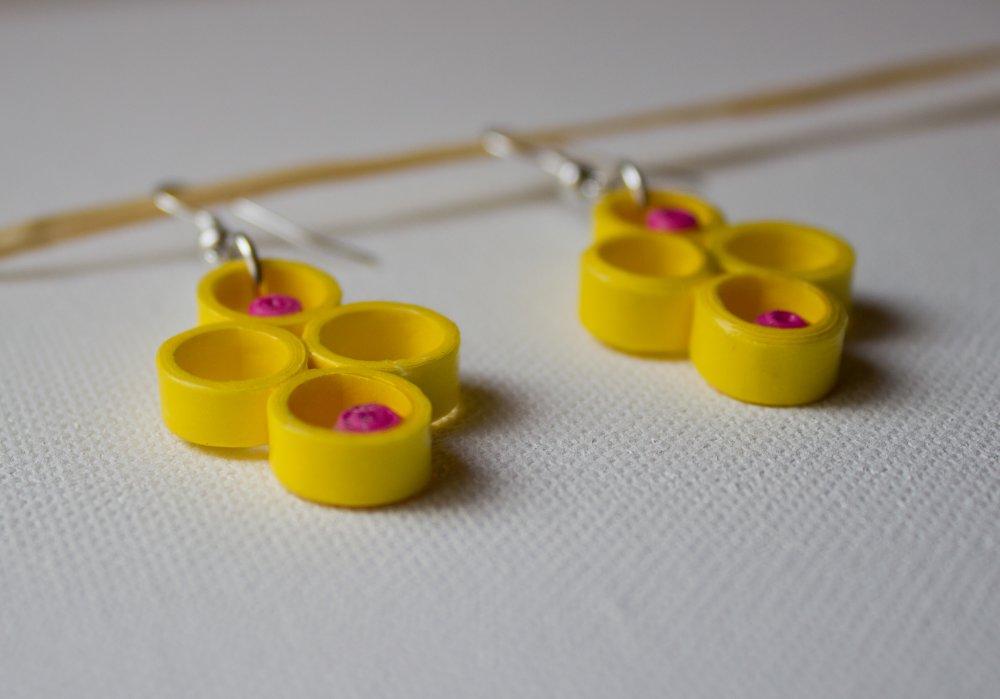 Ronds jaunes en quilling