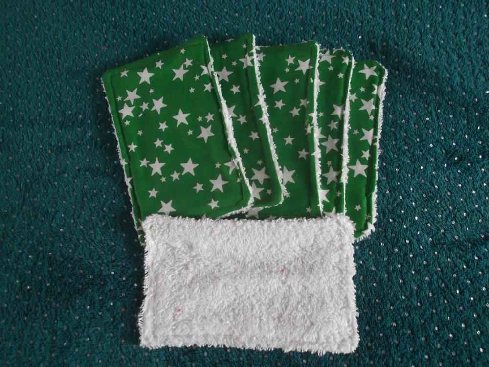 Lot de 7 lingettes rectangulaires en coton
