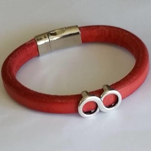 bracelet cuir infini femme