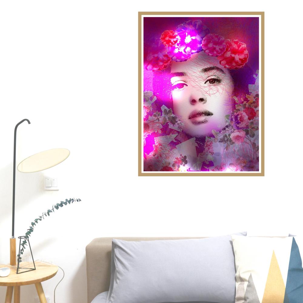 "Affiche A4 ""Martha"" art digital"