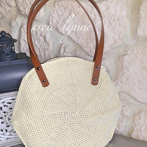 Cadeau sac femme /sac rond /sac été /sac jaune