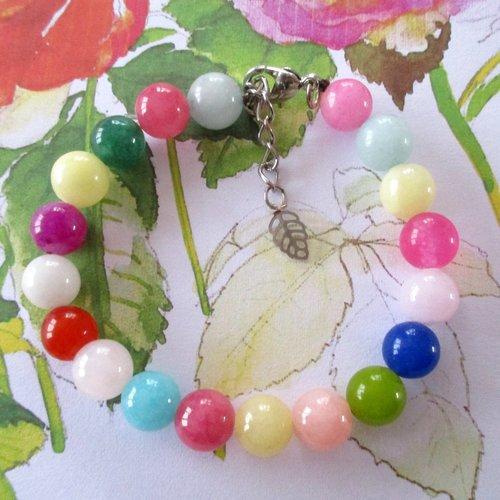 Bracelet agates multicolores