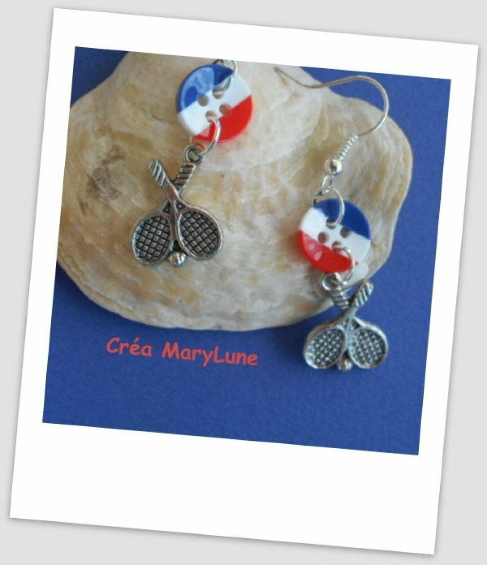Boucles d'oreilles pour oreilles percées tennis - Crochets en ACIER CHIRURGICAL