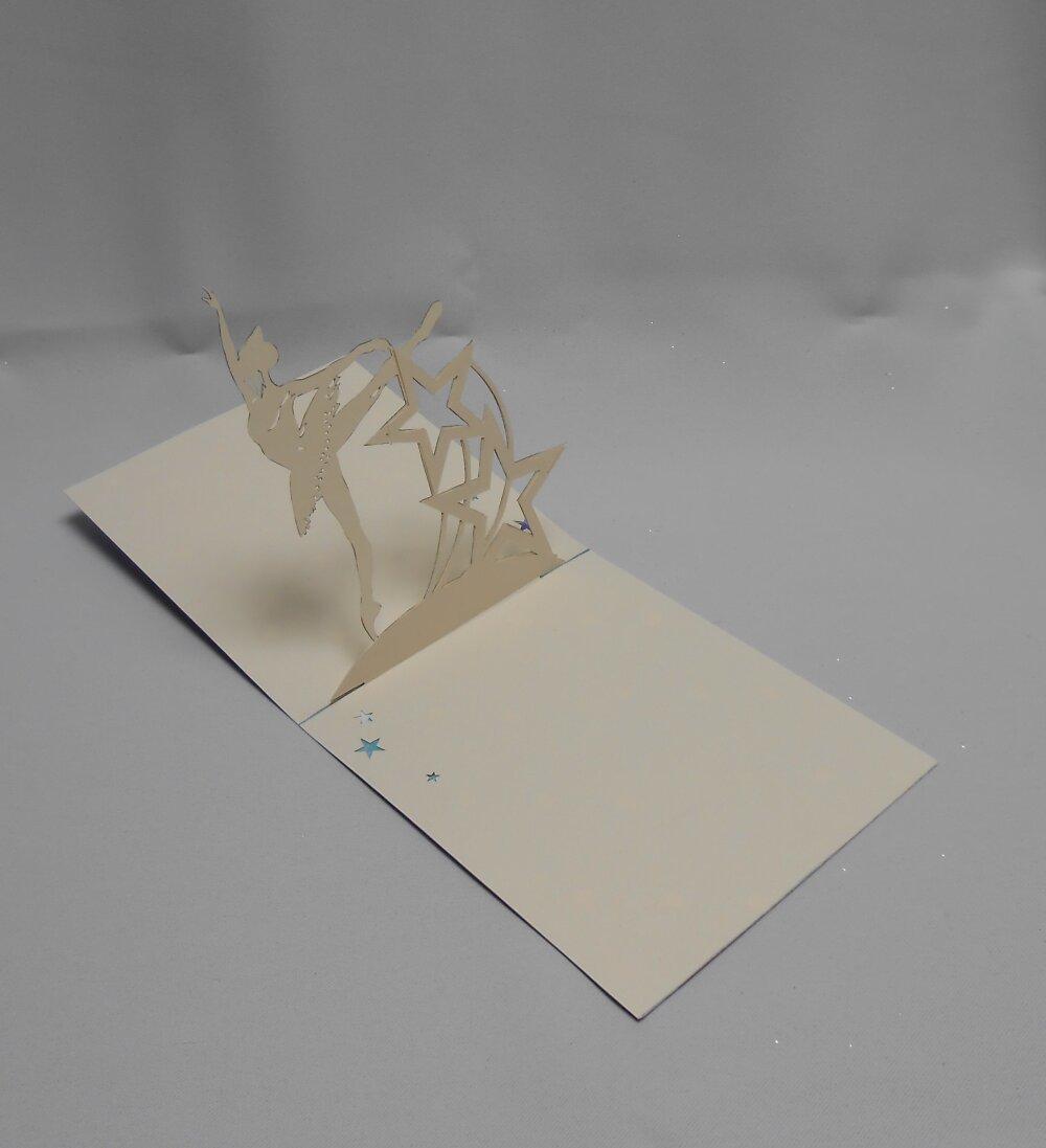 """carte kirigami: """"la danseuse étoile"""""""