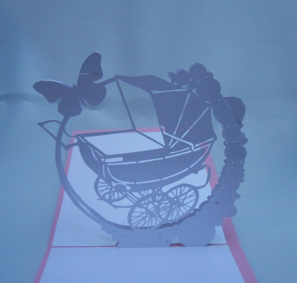 "carte kirigami fête: ""la landau vintage"""